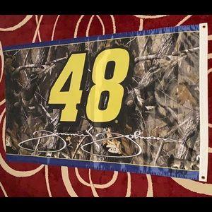 """Jimmie Johnson NASCAR #48  Camo Flag  35""""x 61"""""""